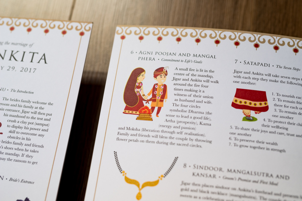 Custom Hindu Wedding Programme By Gingerlime Design 6