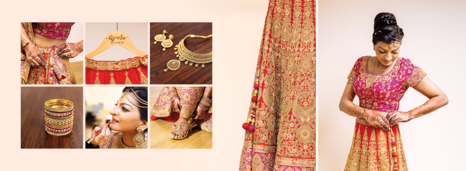 Asmita Nilesh Wedding Album Spreads By Gingerlime Design 2