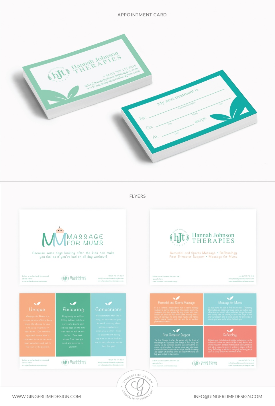 Hannah Johnson Therapies Branding by Gingerlime Design