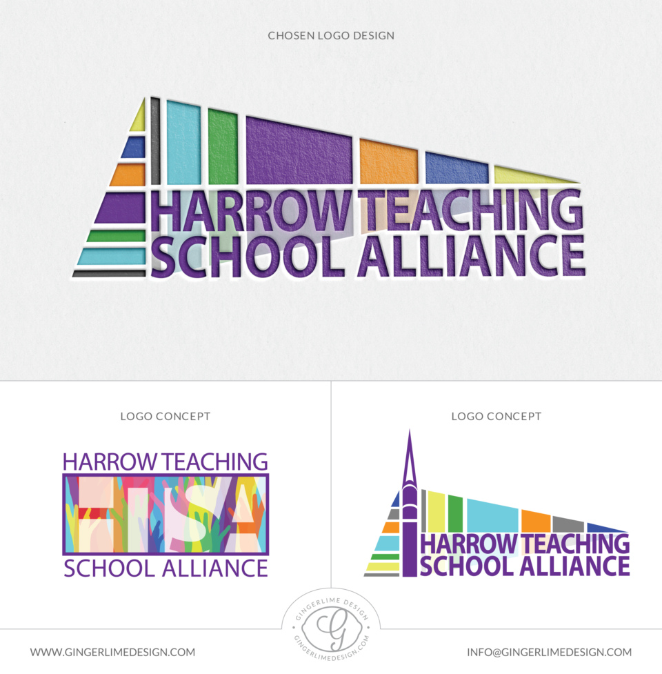 Harrow Teaching School Alliance Logo Design By Gingerlime Design 01
