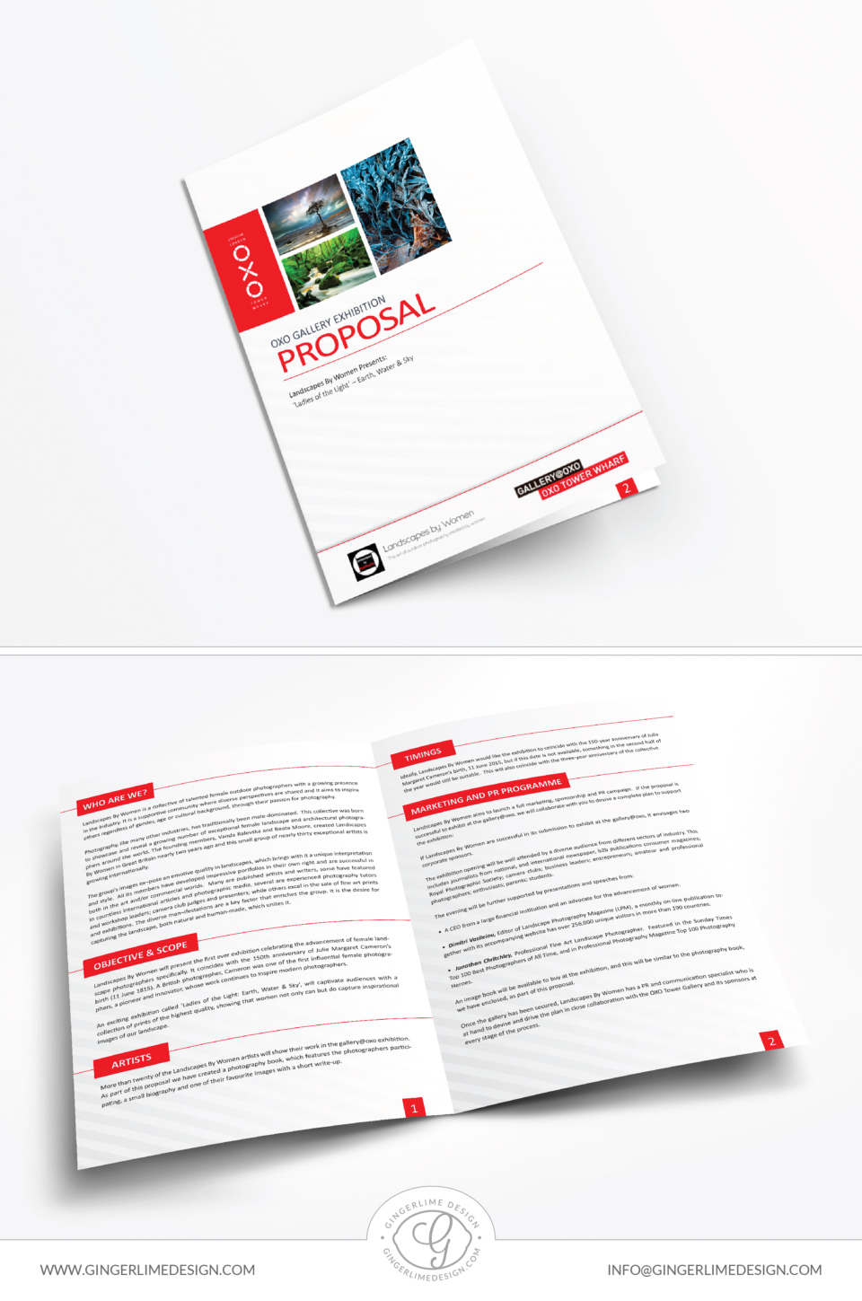 Landscape By Women Brochure Design by Gingerlime Design