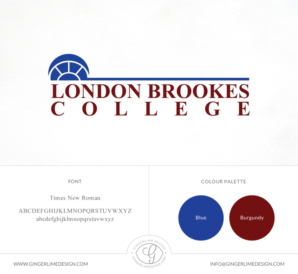 London Brookes College logo design by Gingerlime Design