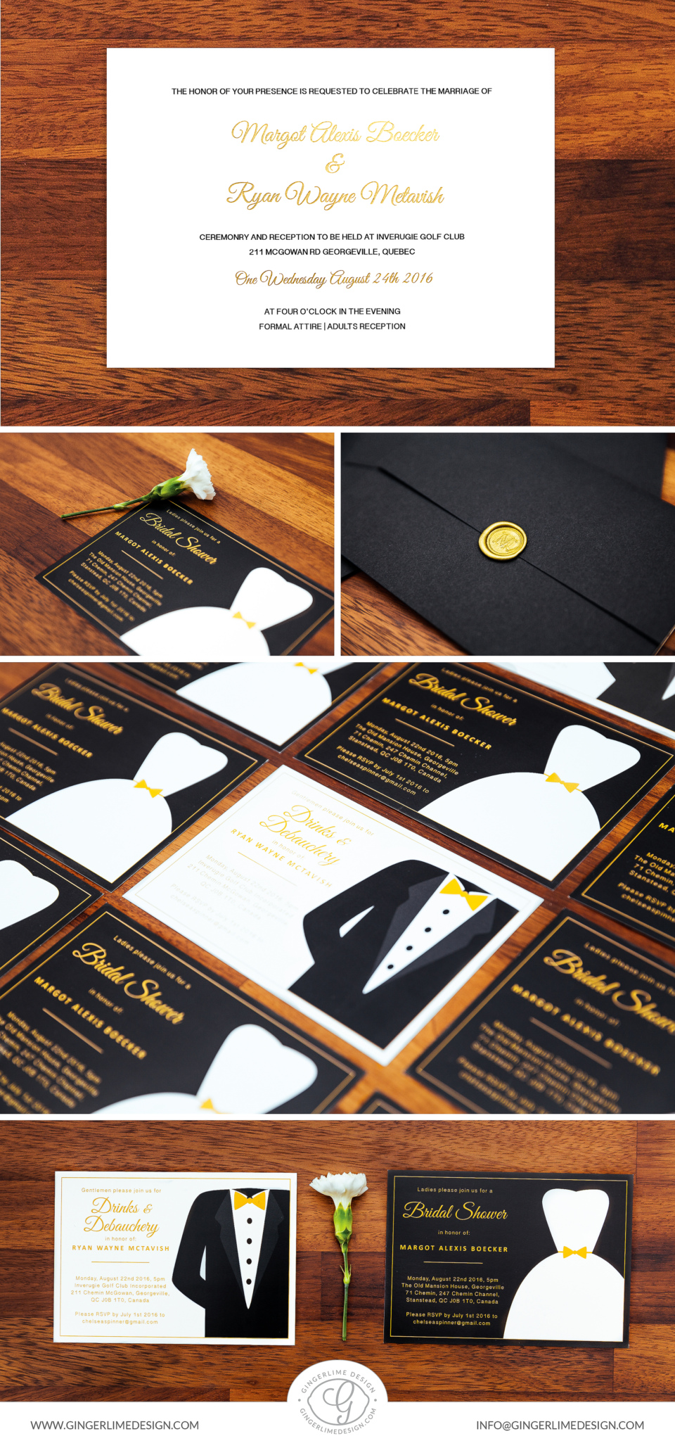 Wedding Invitation By Gingerlime Design