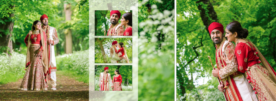 Nishma & Mandeep's sikh wedding album by Gingerlime Design